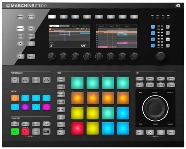 NI_Maschine_Studio_Topview