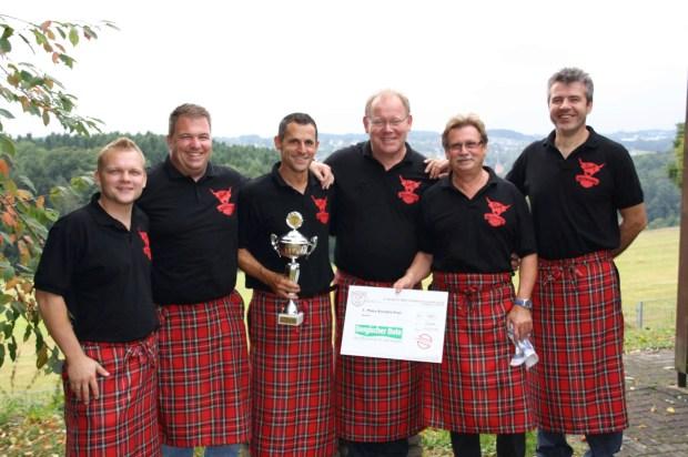 Das BBQ Highlander - Team (v.l. Michael Harant, Michael Schröder, Alexander Vogel, Frank Herrmann, Matthias Schiffel, Bogdan Krakowski)