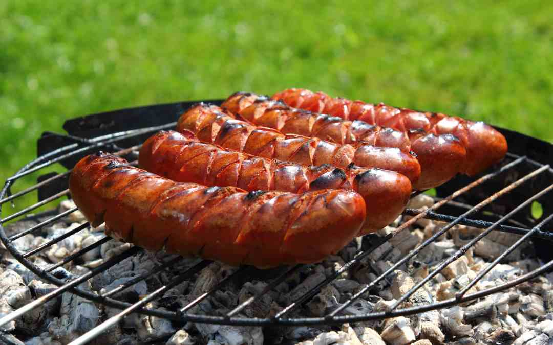 Grilled Barbecue Sauced Smoked Sausage