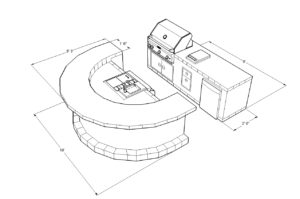Custom Barbecue Island 3D CAD Design - BBQ Concepts of Las Vegas, Nevada