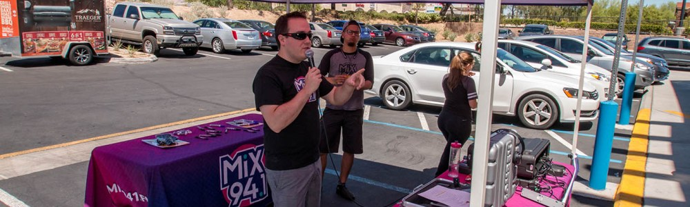 Shawn Tempesta of Mix 94.1 Broadcasting Live from the Official BBQ Concepts Grand Opening Event