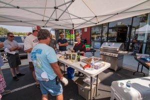 Celebrity Chef Phillip Dell teaching the first ever Back to Basics Grilling Class at BBQ Concepts of Las Vegas, Nevada