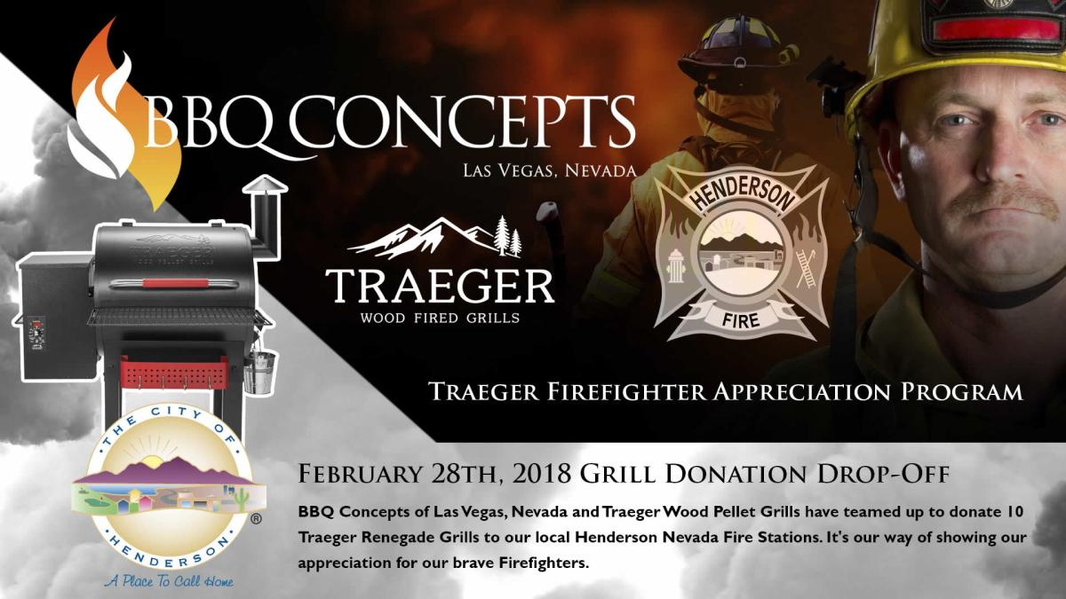 Traeger Firefighter Appreciation Program by BBQ Concepts
