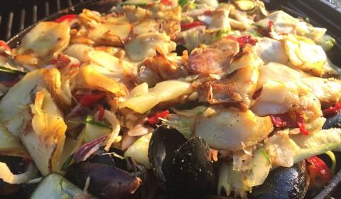 Scampi-Muschel-Gemüse