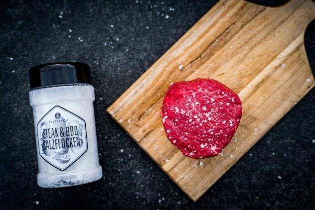 Ein gutes Steak braucht nur Salz