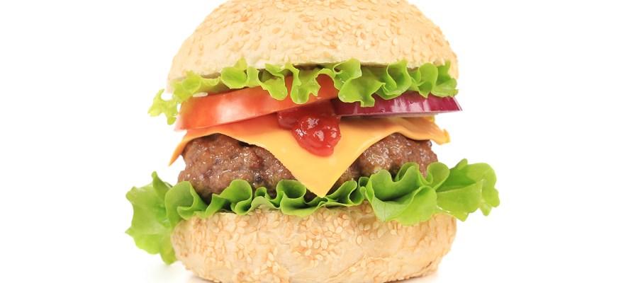 Big, tasty stuffed hamburger