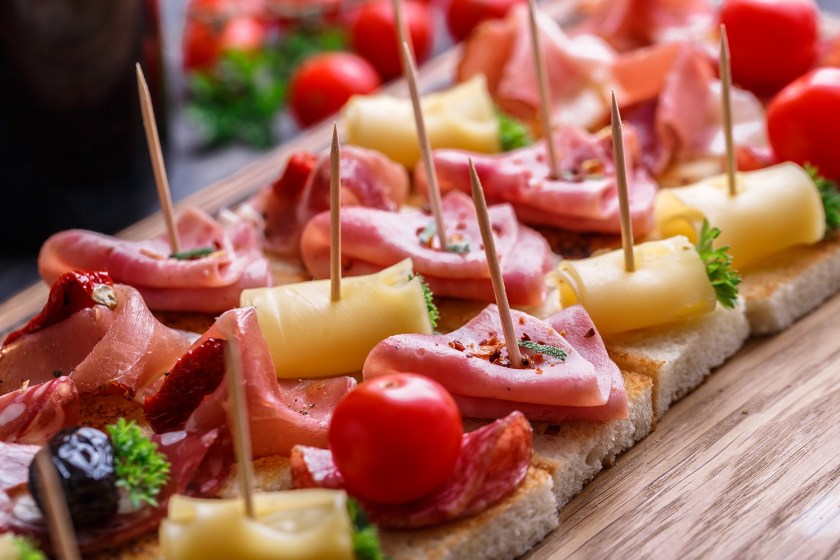 Tapas, spanish party finger food