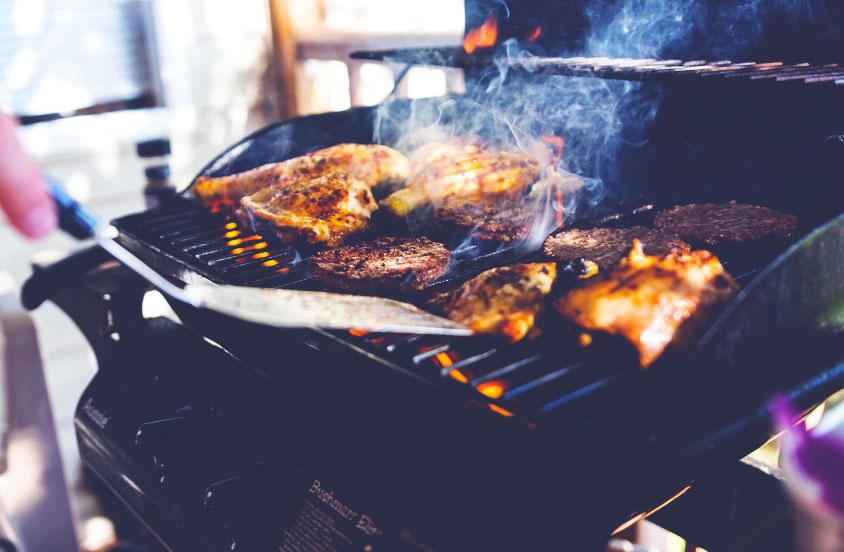 smoke on gas grill