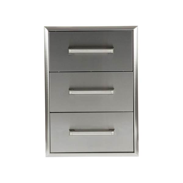 C3DC Coyote Outdoor Living 3 Drawer Cabinet