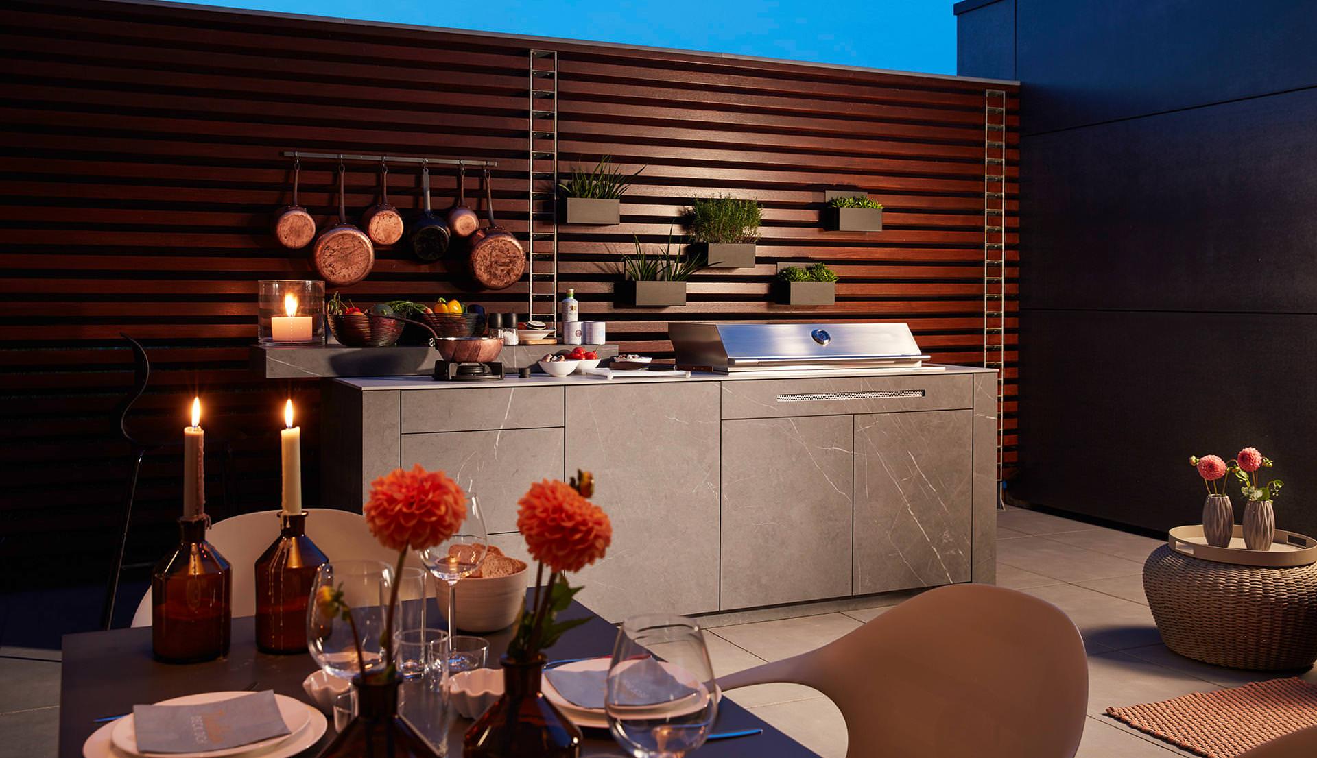 Bbqtion Luxus Outdoorkuchen Individuelle Wand Und Inselkuchen