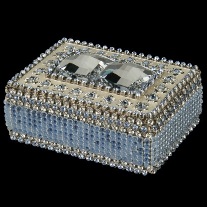 bb Simon Swarovski crystal jewelry box J-711