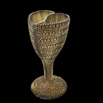 B.B.SIMON CUP-510 Gold Swarovski Crystal Wine Glass