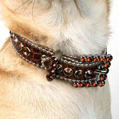 B.B.SIMON DOG Dakota Crystal Dog Cat Pet Collar
