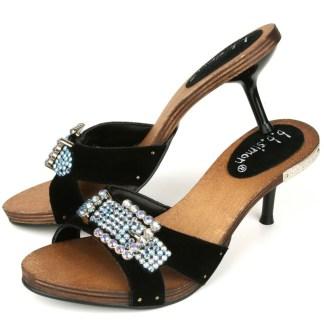 B.B.SIMON SHOES 3882-AB Womens Rhinestone Swarovski Heels