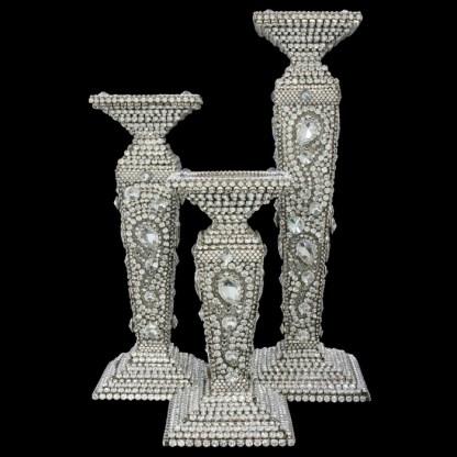 CDH-209 bb Simon Swarovskii crystal Candle holder