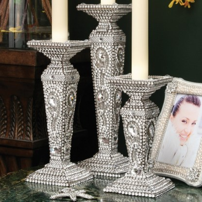 CDH-209-M bb Simon Swarovskii crystal Candle holder