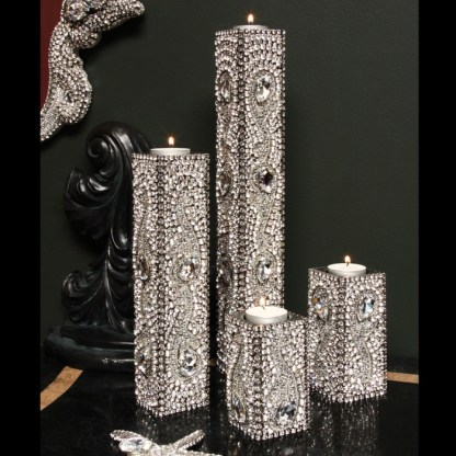 CDH-241 bb Simon Swarovski crystal Candle holder