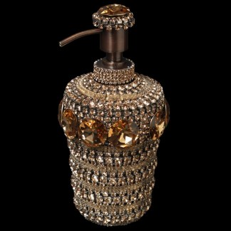 HSD-100-27 Gold Swarovski Crystal Soap Dispenser
