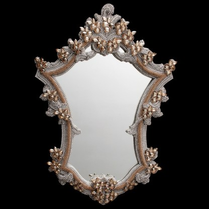 M-200-GOLD-CLEAR BB Simon Gold Swarovski Crystal Mirror