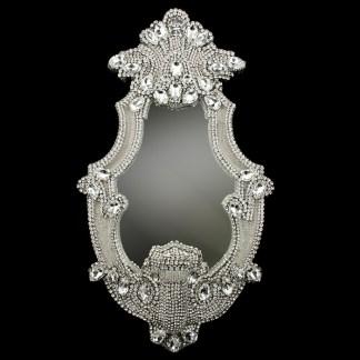 M-204 BB Simon Tall Clear Crystal Bling Mirror