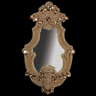 M-205 BB Simon Jeweled Gold Decorative Mirror