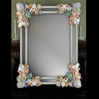 M-401-SHELL BB Simon Coastal Swarovski Bling Mirror