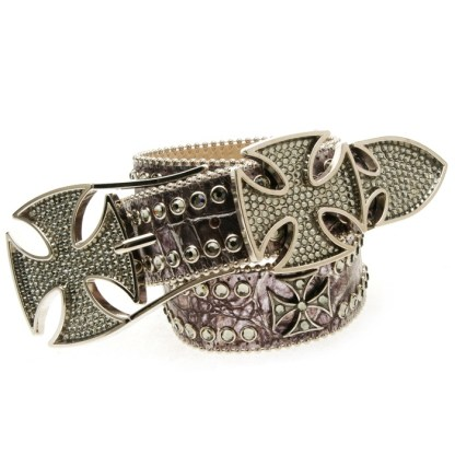 Rustic -BLACK DIAMOND  B.B.SIMON BELT
