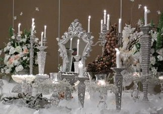 WEDDING # 6 - Crystal Decorations Mirrors Candle Holder Wedding Decor Rental