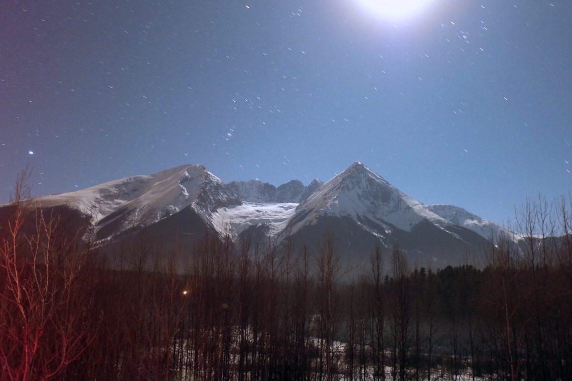 Hudson Bay Mountain Winter night