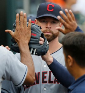 Corey Kluber. Duane Burleson/Getty Images.