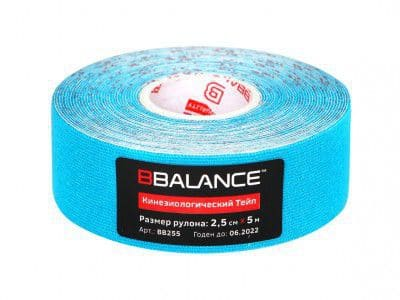 Kinesio teyp bbtape ™ 2,5cm × 5m μπλε