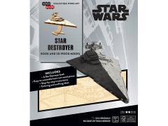 Star Wars IncrediBuilds Star Destroyer Book & 3D Wood Model Kit