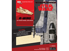 Star Wars IncrediBuilds A-Wing Book & 3D Wood Model Kit