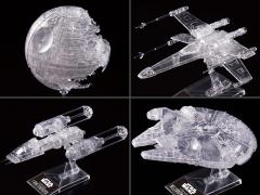 Star Wars Clear Vehicle Model Set of 4 1/2,700,000, 1/144 & 1/350 Scale Model Kit