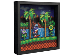 Sonic the Hedgehog Idle Pose Pixel Frame (9x9)