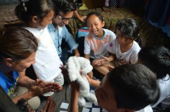 and we played a memory game with Rabbit motives that was created for the last trip.