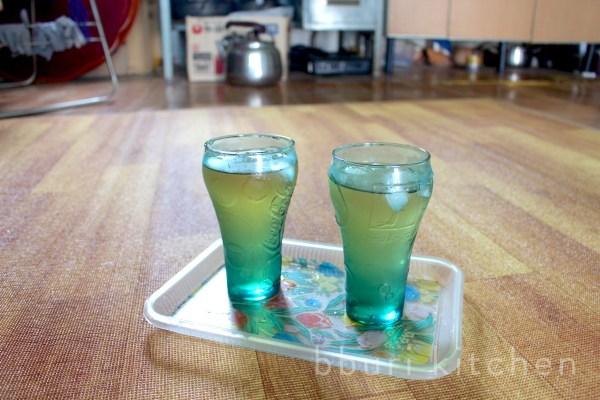 a drink made with hamcho hyoso at the farm