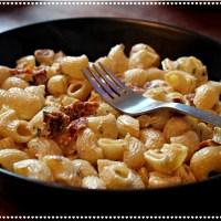Pâtes express tomates séchées, ciboulette et moutarde 🍴🍅