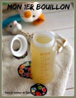 Mon 1er bouillon : recette pour bébé dès 4 mois