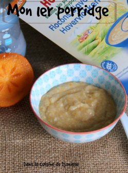 Bébé dès 4 mois : porridge aux fruits