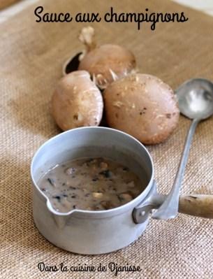 Sauce végane aux champignons pour bébé dès 6 mois