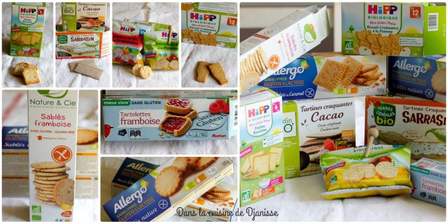 collage biscuits vegans