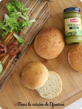 Buns pour burgers maison {vegan pour enfants}