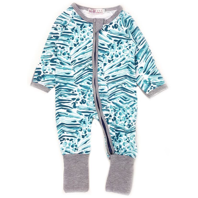 Baby Clothes Online Malaysia Wholesale Jumpsuit 13 Green Stripes