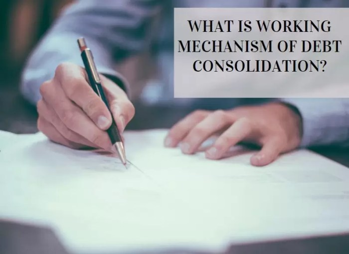 Working mechanism debt consolidation