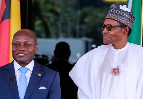 Image result for Buhari donates $500,000 to G'Bissau for elections