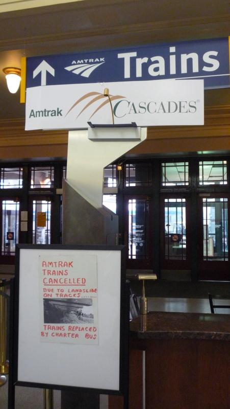 Amtrak Cascades trains cancelled by mudslides again