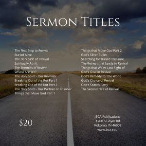 God's Road to Revival