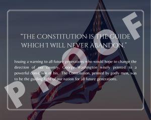 George Washington Freedom Quote Art Print