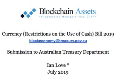 Ban on Cash in Australia